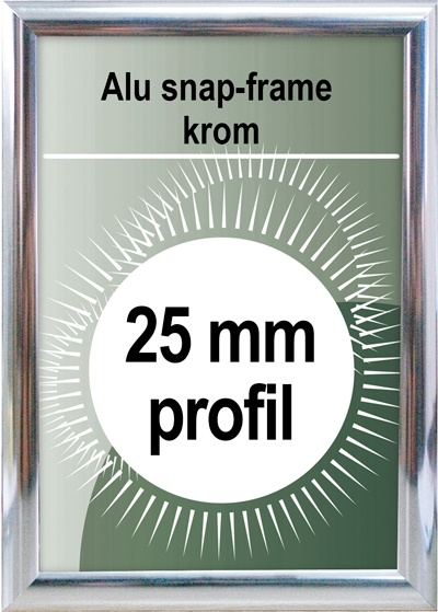 Snapramme - 25mm profil i chrome