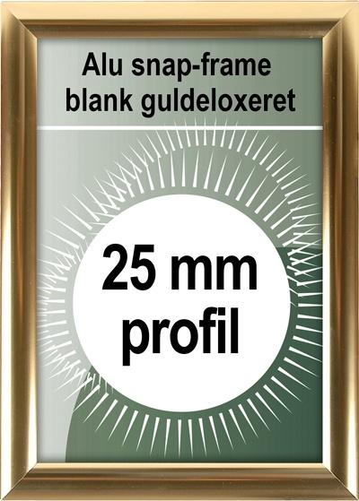 Klikramme - 25mm profil i blank guld
