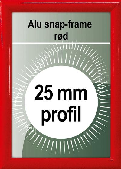 Snapramme - 25mm profil i rød