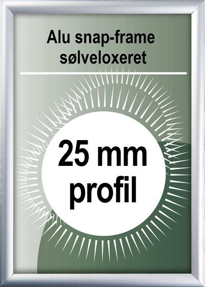 Snapramme - 25mm profil i sølv
