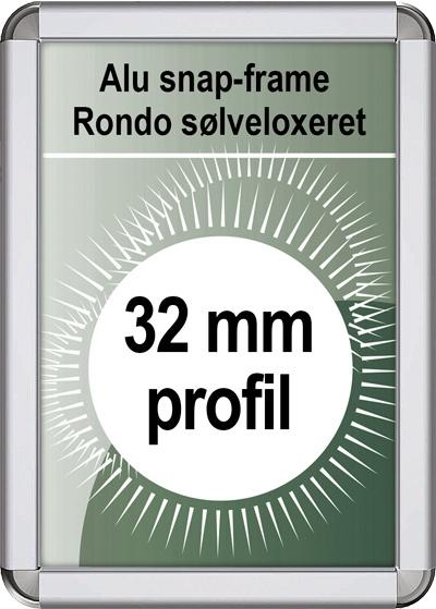 Snapramme Rondo - 32mm profil i sølv