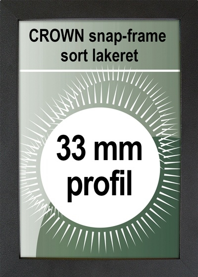 Crown Snapramme - 33mm profil i sort