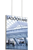 Maxiframe Lagoon banner ramme - 45mm