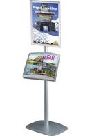 Mini Multi Standere med plakatramme og A3 brochureholder