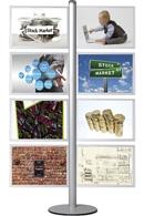 Multi Standere med slide-in plakat rammer