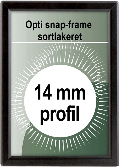 Opti Snapramme - 14mm profil i sort