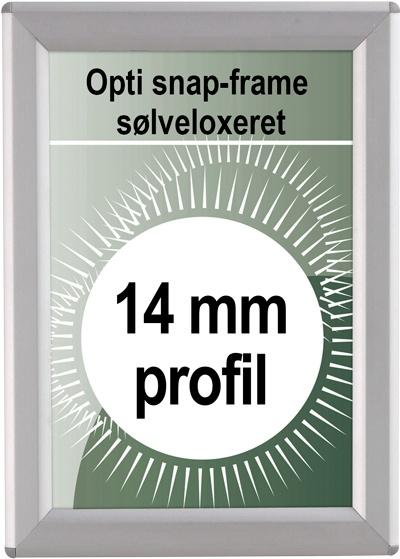 Opti Snapramme - 14mm profil i sølv