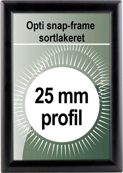 Opti Snapramme - 25mm profil i sort