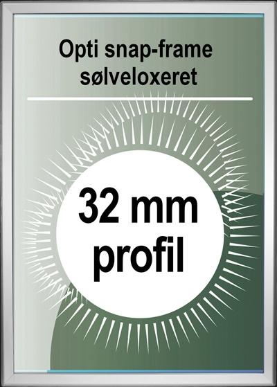 Opti Snapramme - 32mm profil i sølv