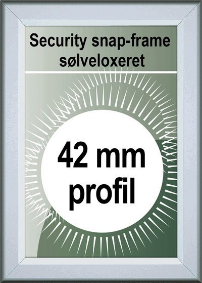 Security Snapramme - 42mm profil i sølv