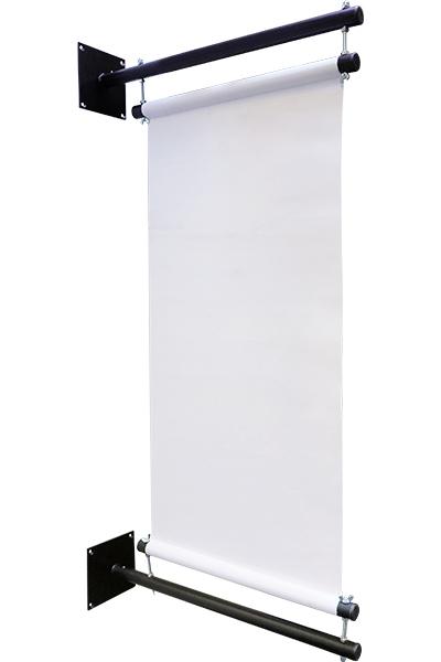 Vægmonteret Bannerholder - 50cm - Sort