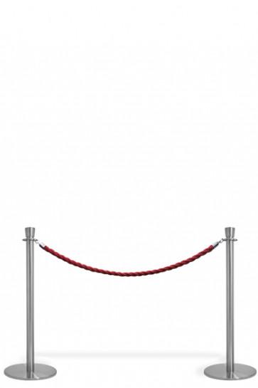 Afspærringsstolpe System - 2 Standere Med Rødt Reb