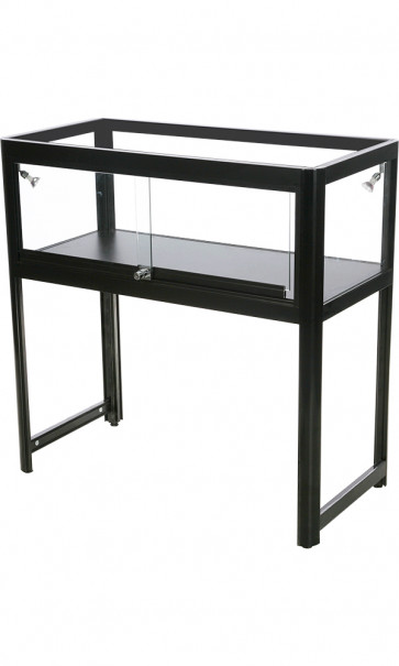 Showcase Desk Duo butiksdisk montre - sort