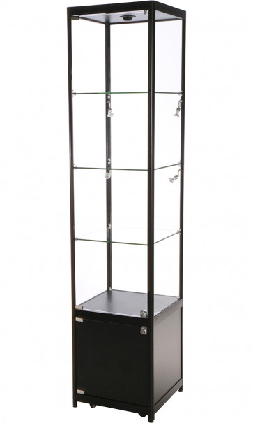Showcase Tower Solo glas montre med underskab - sort