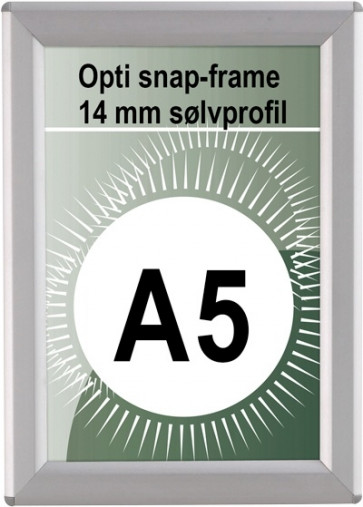 Opti Snapramme - 14mm Profil - (A5) - 14.8x21cm - Sølv