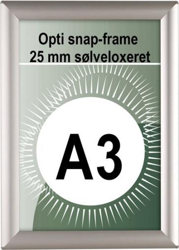 Opti Snapramme - 25mm Profil - (A3) - 29.7x42cm - Sølv