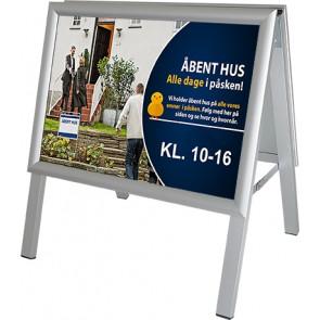 Alu Line Gadeskilt - (A3) 29.7x42cm Horisontal - Sølv