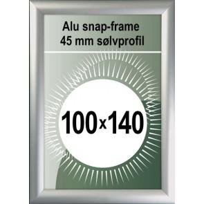 Snapramme - 45mm Profil - (B0) 100x140cm - Alu