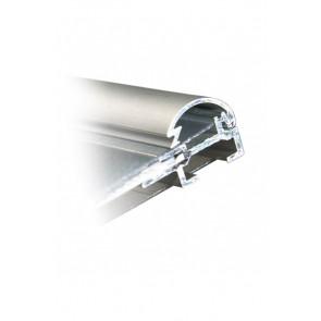 Alu Snapramme Profil - 15mm - 3m Længde - Sølv