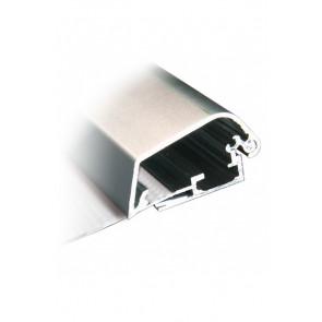 Alu Security Snapramme Profil - 42mm - 3m Længde - Sølv