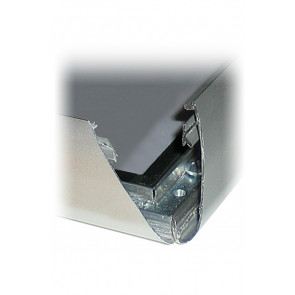 Alu Udendørs Snapramme Profil - 35mm - 3m Længde - Sølv