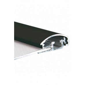 Alu Snapramme Profil - 25mm - 3m Længde - Sort