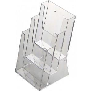 Akryld Brochureholder Til Bord - (3xA5) - 14.8x21cm