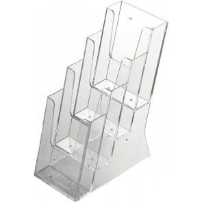 Akryld Brochureholder Til Bord - (4xM65) - 9.9x21cm