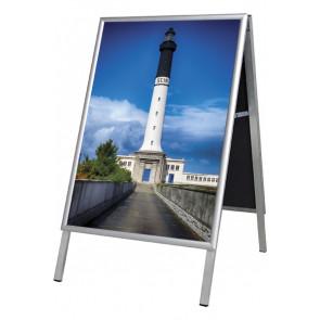 Alu Line Budget Gadeskilt - (B2) 50x70cm - Sølv