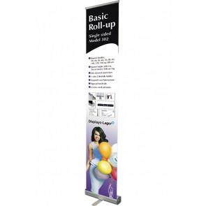 Basic Roll Up Enkeltsidet - 40x220cm Banner - Sølv