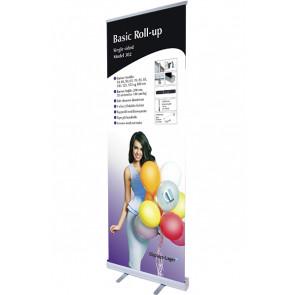 Basic Roll Up Enkeltsidet - 80x220cm Banner - Sølv
