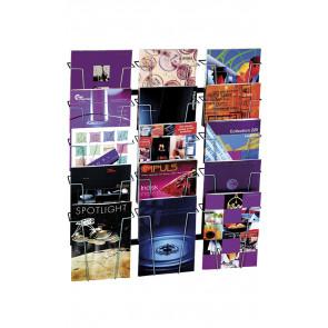 Brochureholder til væg - 15xA4