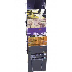 Brochureholder til væg - 6xA4