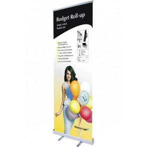 Budget Roll Up Enkeltsidet - 85x220cm Banner - Sølv
