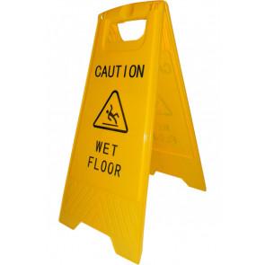 Glat gulv skilt med print - advarselsskilt
