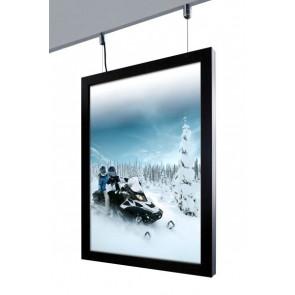 Crown LED Plakatramme - Dobbeltsidet - (A2) - 42x59.4cm - Sort
