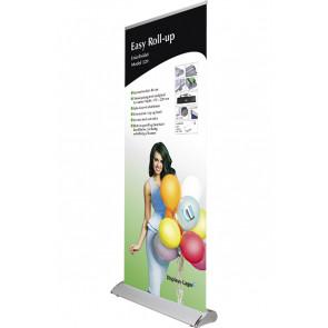 Easy Roll Up Enkeltsidet - 80x175-220cm Banner - Sølv
