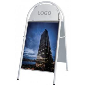 Expo Gotik Lux Gadeskilt - (A1) 60x85cm - Hvid