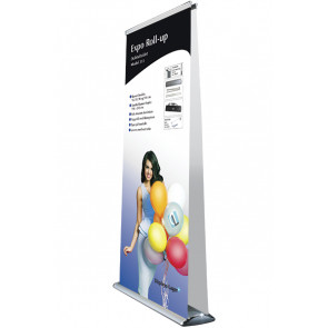 Expo Roll Up Dobbeltsidet - 83x216-260cm Banner - Sølv