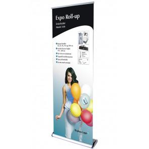 Expo Roll Up Enkeltsidet - 83x216-260cm Banner - Sølv