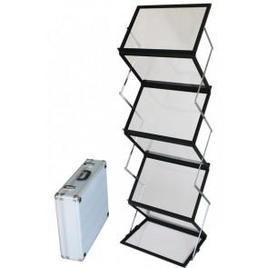 Flex Brochurestander Med Kuffert - 6xA3 - Sort