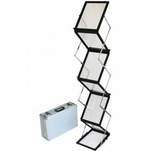 Flex Brochurestander Med Kuffert - 6xA5 - Sort