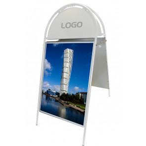 Gotik Budget Gadeskilt - (B2) 50x70cm - Hvid