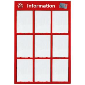 Info Modul Til 9 Stk. - (A4) 21x29.7cm - Rød