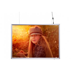 LED Plakatramme - (A3) - 29.7x42cm - dobbeltsidet horisontal