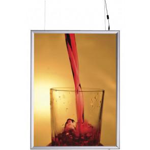 LED Plakatramme - (A4) - 21x29.7cm - dobbeltsidet vertikal