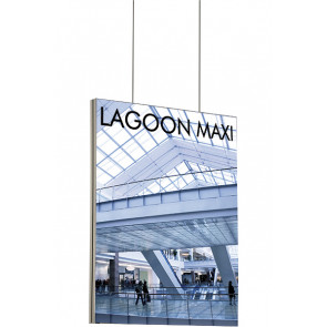 Maxiframe Lagoon banner ramme dobbeltsidet - 100x100cm