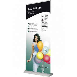 Lux Roll Up Enkeltsidet - 83x210-250cm Banner - Sølv