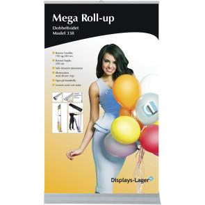 Mega Roll Up Dobbeltsidet - 150x284cm Banner - Sølv