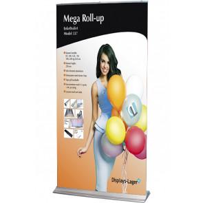 Mega Roll Up Enkeltsidet - 120x284cm Banner - Sølv